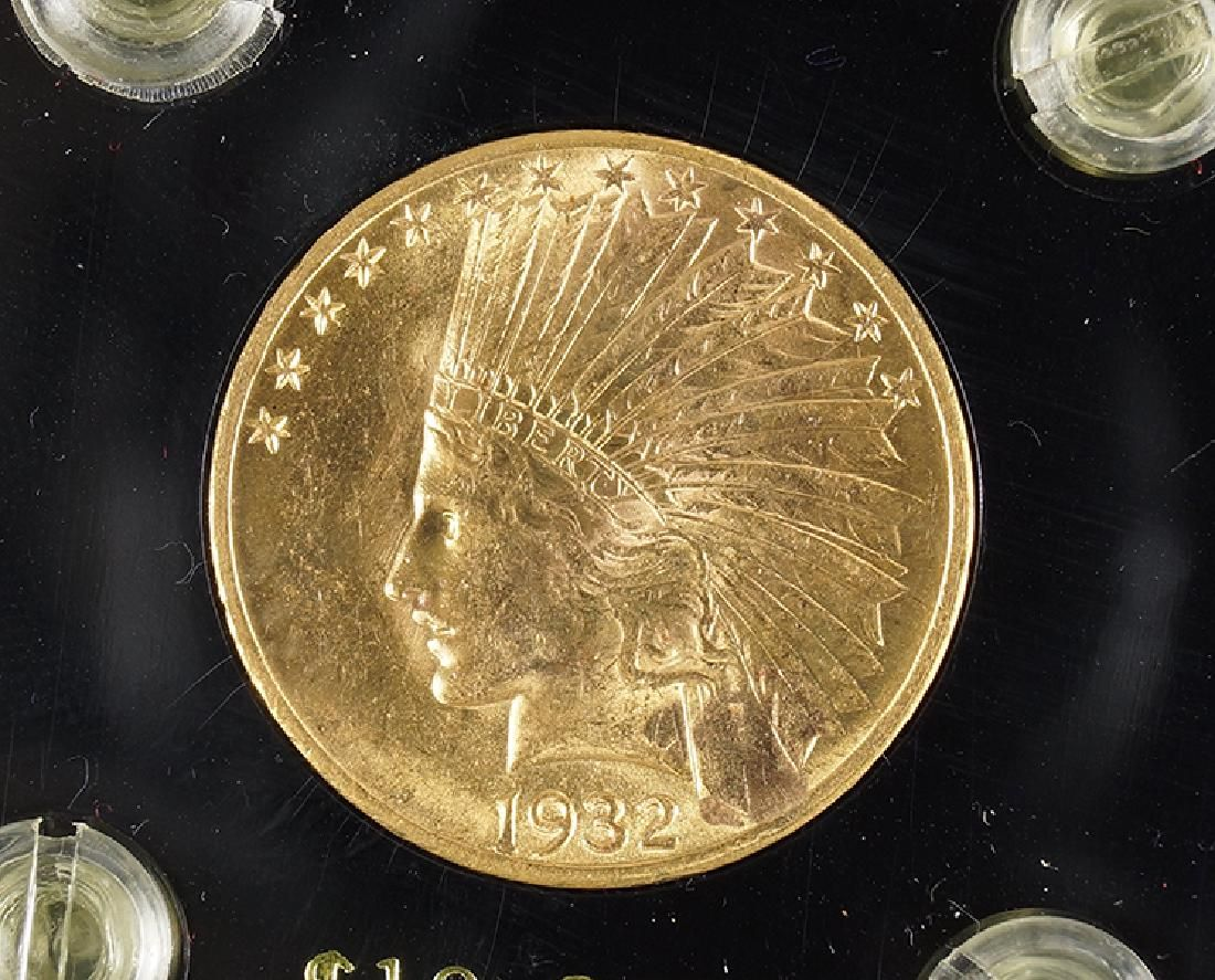 1932 U.S. $10 Indian Eagle Gold Coin.