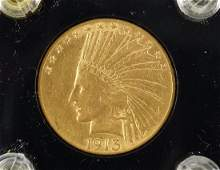 1913 $10 Indian Head Gold Coin.