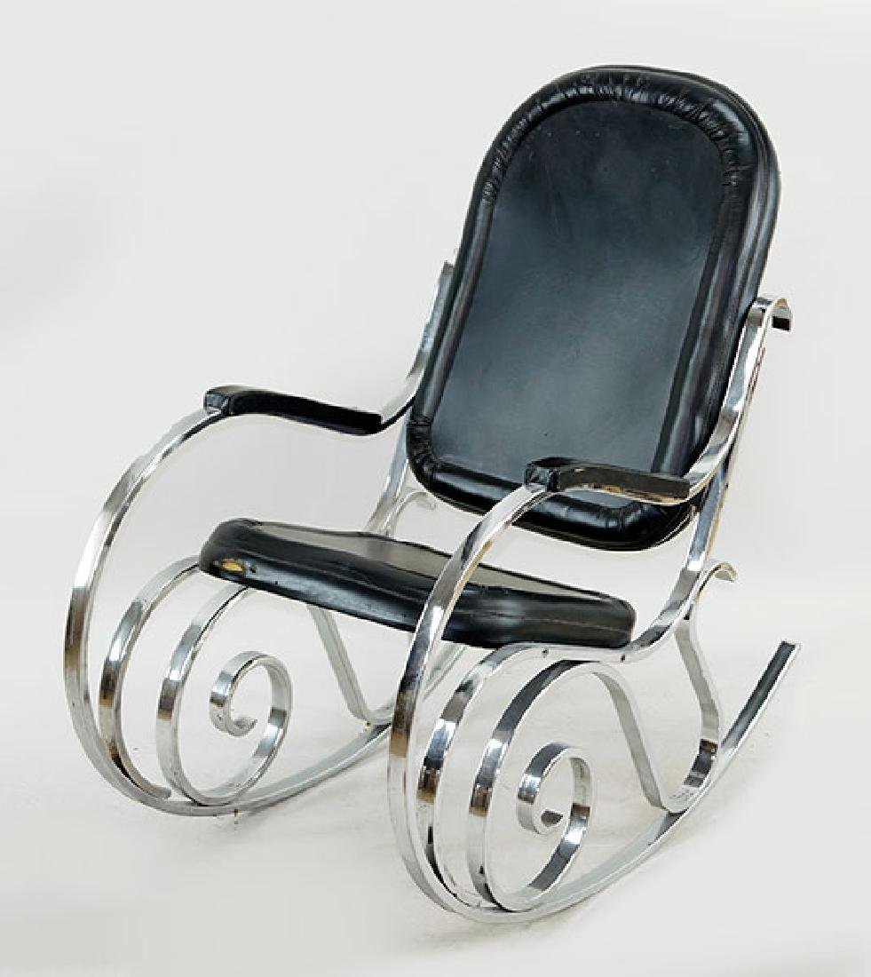 A French Art Deco Rocking Chair.