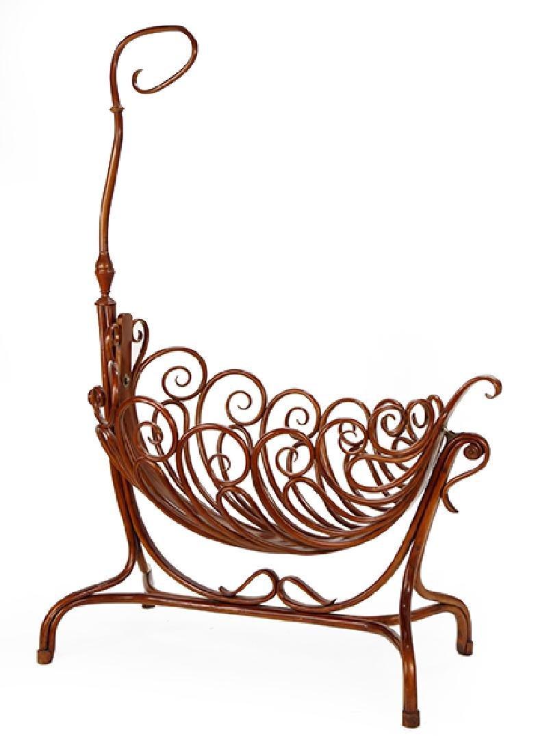A Thonet Bentwood Bassinet Cradle.