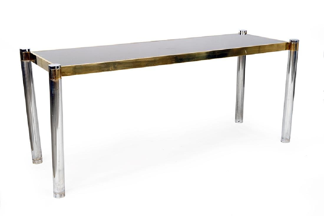 A Metal Console Table.