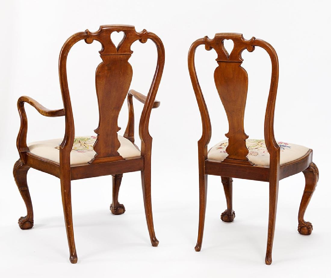 A Set Of Twelve Carved Mahogany Dining Chairs. - 2