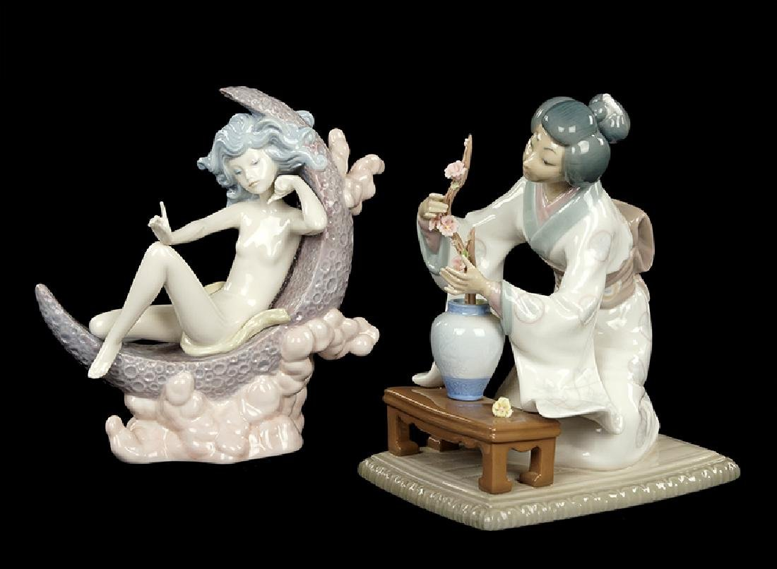 Two Lladro Porcelain Figures.