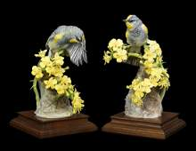 A Pair of Dorothy Doughty for Royal Worcester Porcelain