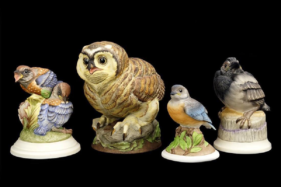 Four Boehm Porcelain Birds.