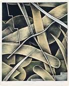 William Conger (American, B. 1937) Levee.