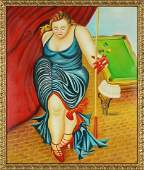 Artist Unknown American Contemporary Pool Player