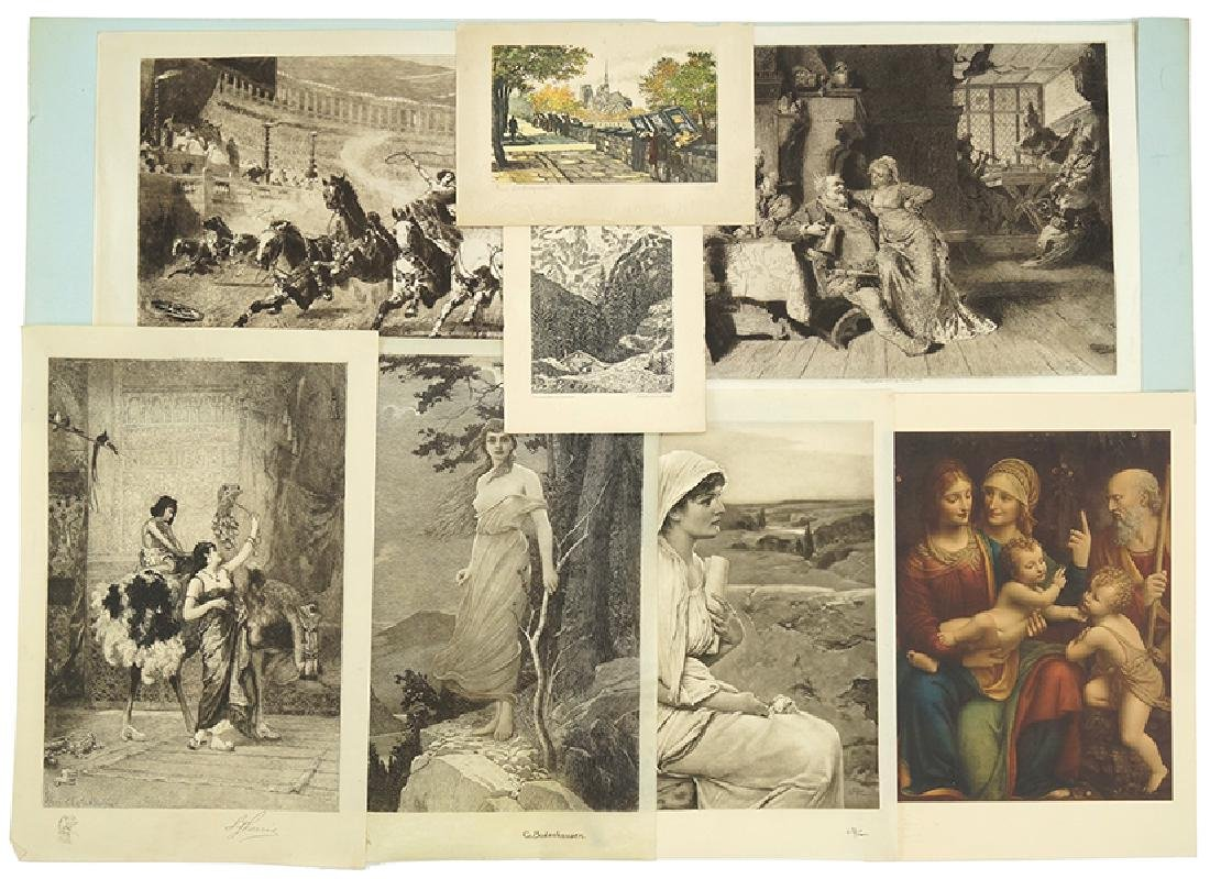 A Collection of Unframed Prints.