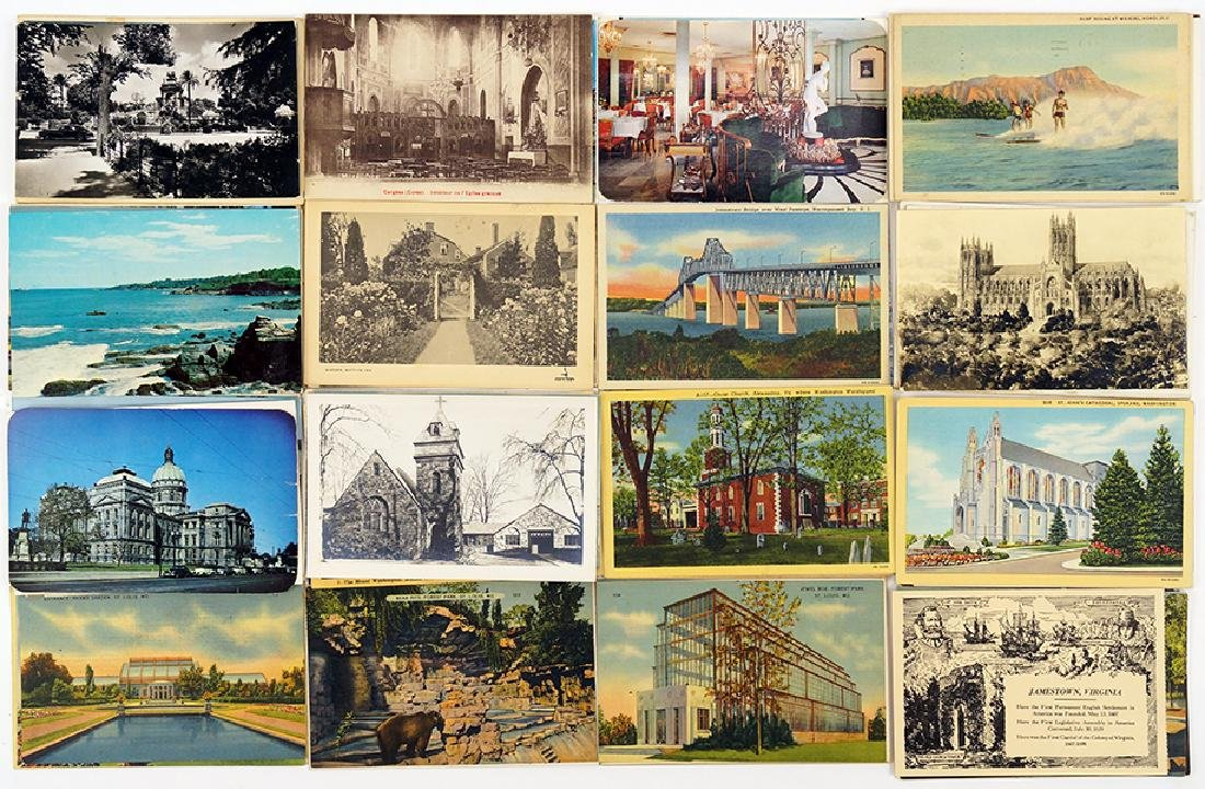 A Collection of American and European Postcards.