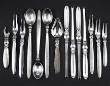 A Collection of Georg Jensen Sterling Silver Flatware.