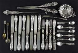An English Silver Partial Vanity Set