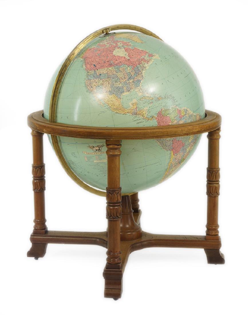 A Replogle Globe in Stand.