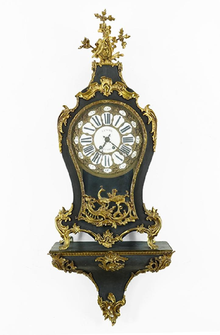 A French Lenoir Ormolu Mounted Bracket Clock.