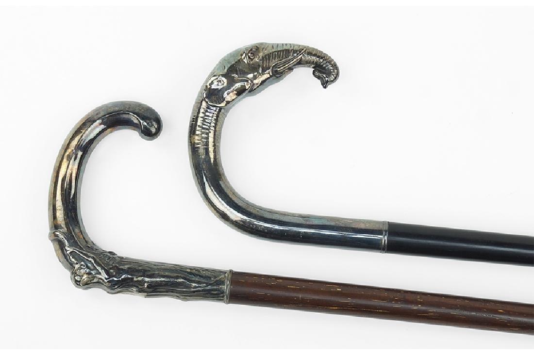 A German Silver Handled Walking Stick / Cane. - 2