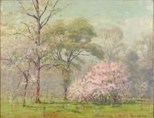 Frank V. Dudley (American, 1868-1957) Spring Landscape.