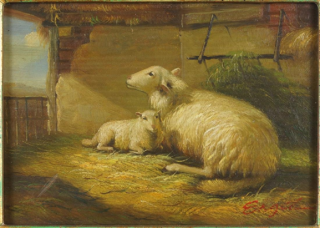 Engel (20th Century) Sheep and Lamb.