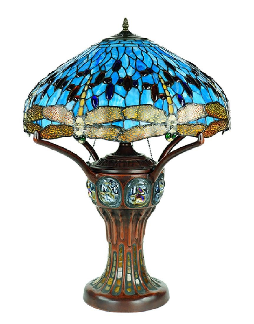 A Tiffany Style Composite Lamp.