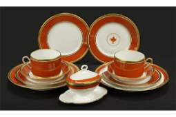 Two Richard Ginori Porcelain Partial Dinner Services