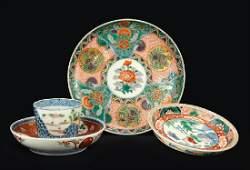 A Set of Ten Imari Porcelain Cups.