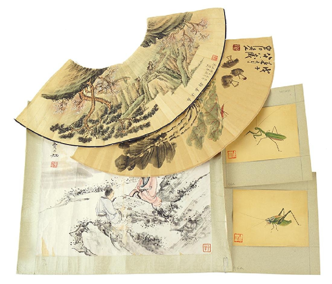 A Group Of Chinese Works On Paper.