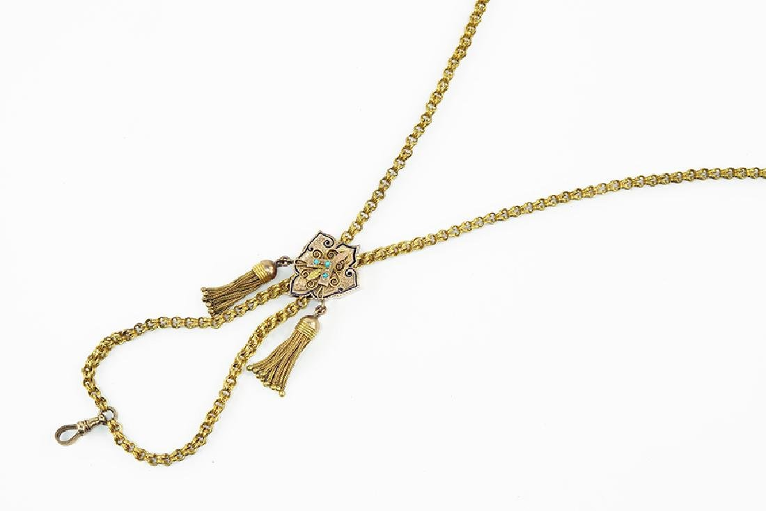 A Victorian Slide Necklace.