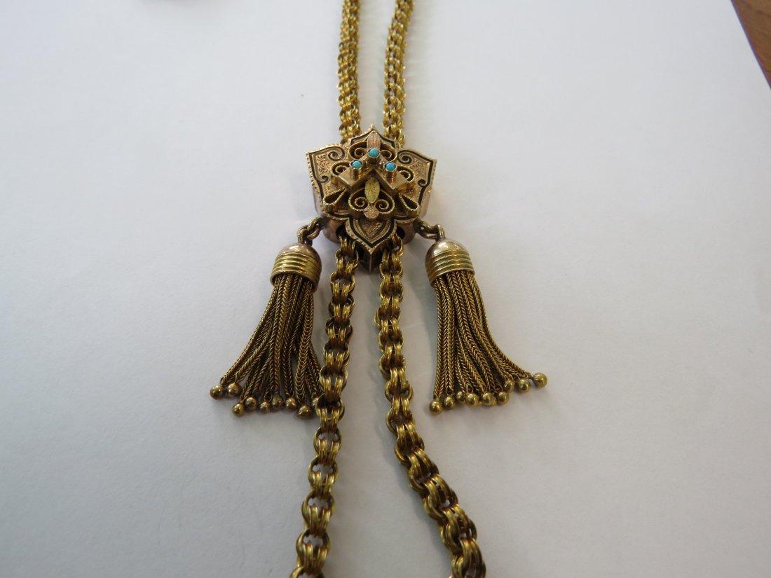 A Victorian Slide Necklace. - 2