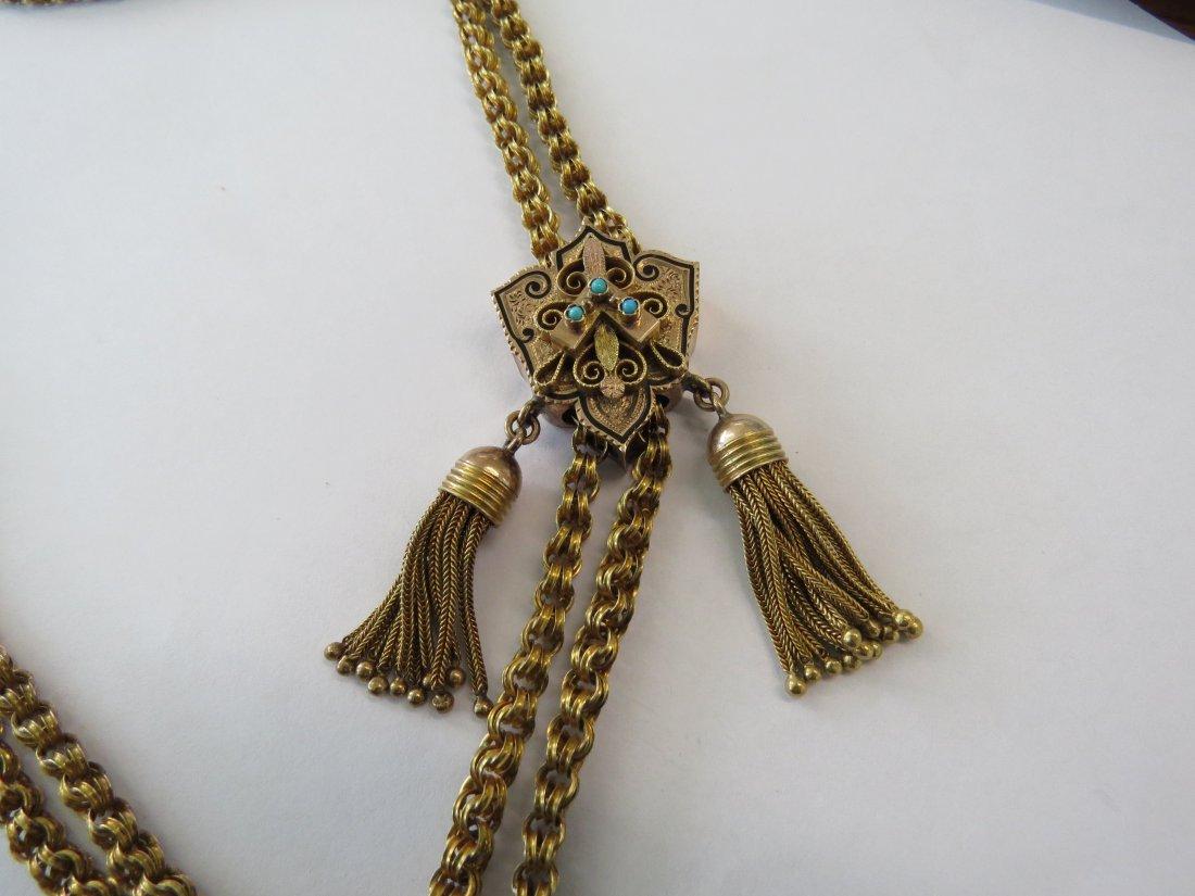 A Victorian Slide Necklace. - 5