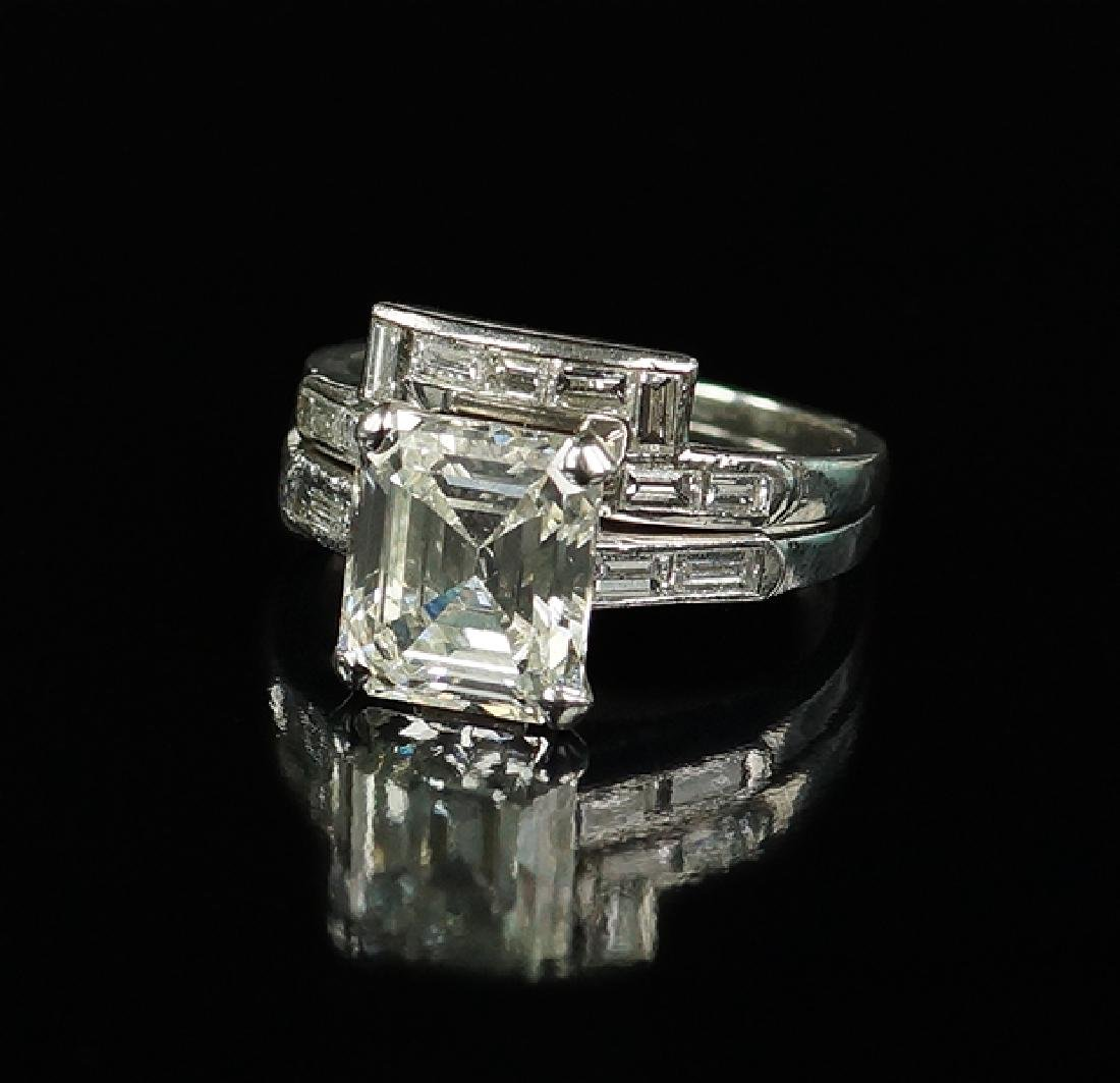 A Diamond and Platinum Ring Set.