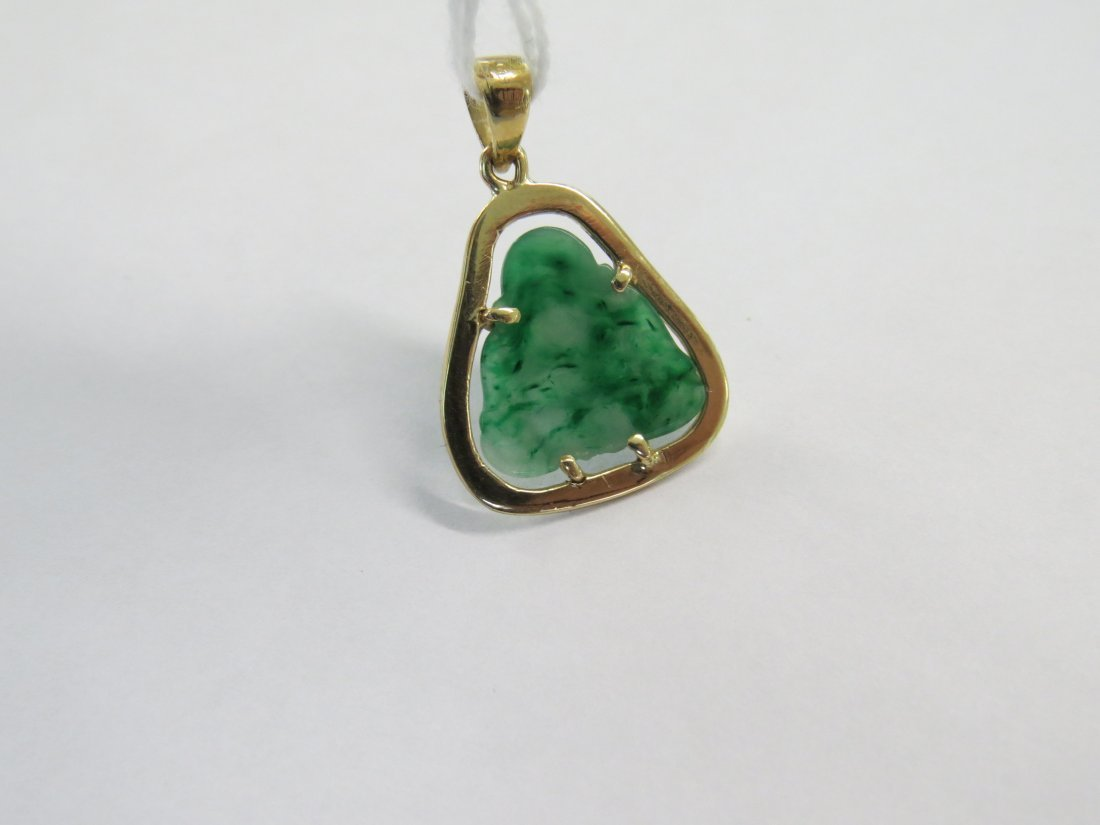 A Carved Jade Buddha Pendant. - 3