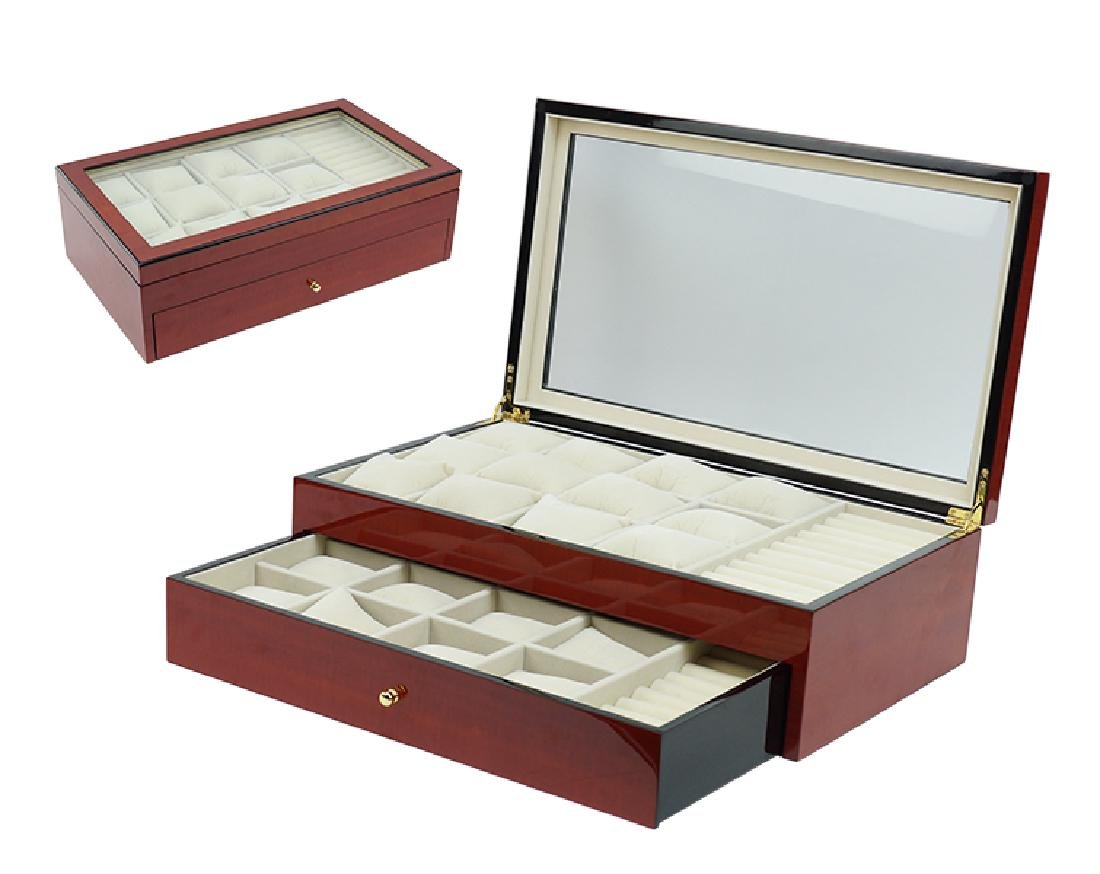 A Rosewood Watch and Jewelry Box.