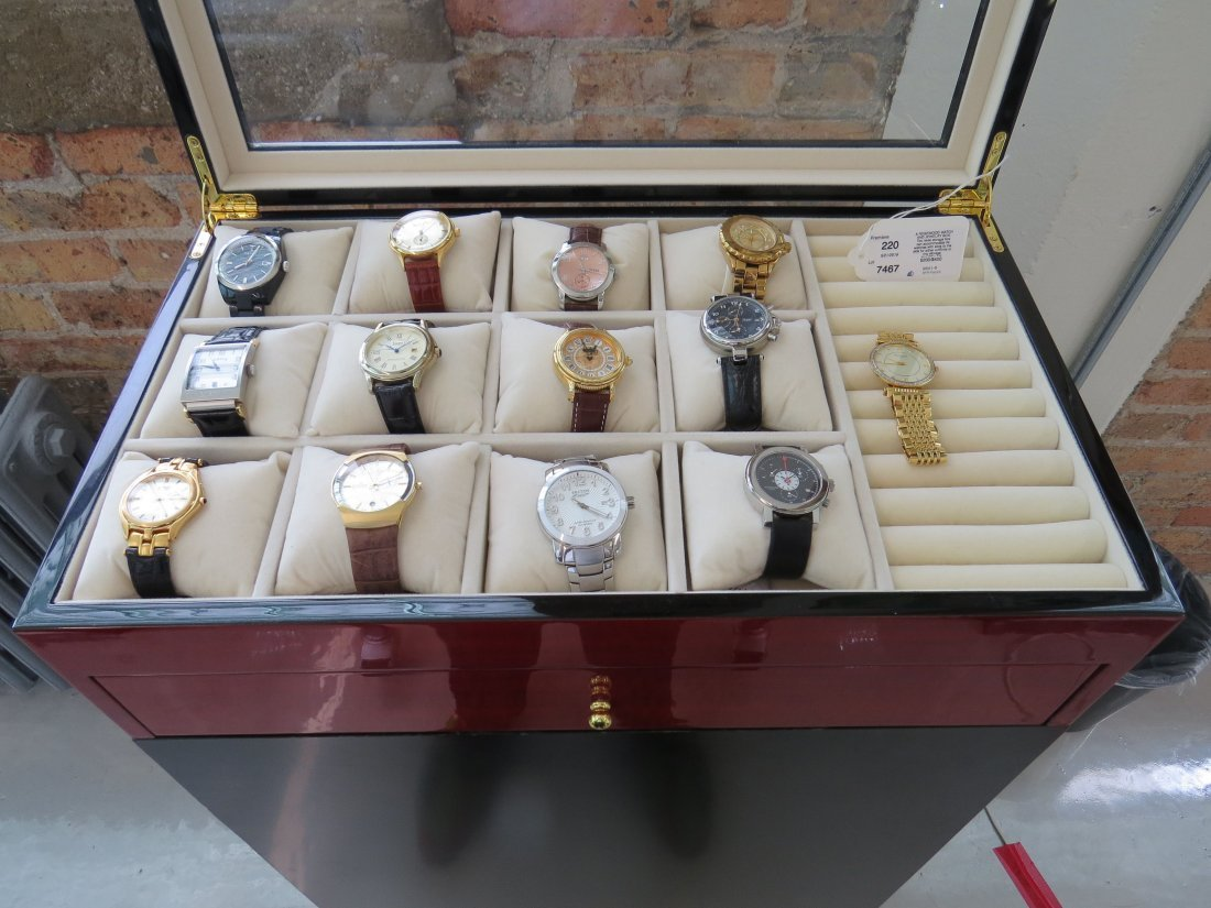 A Rosewood Watch and Jewelry Box. - 2