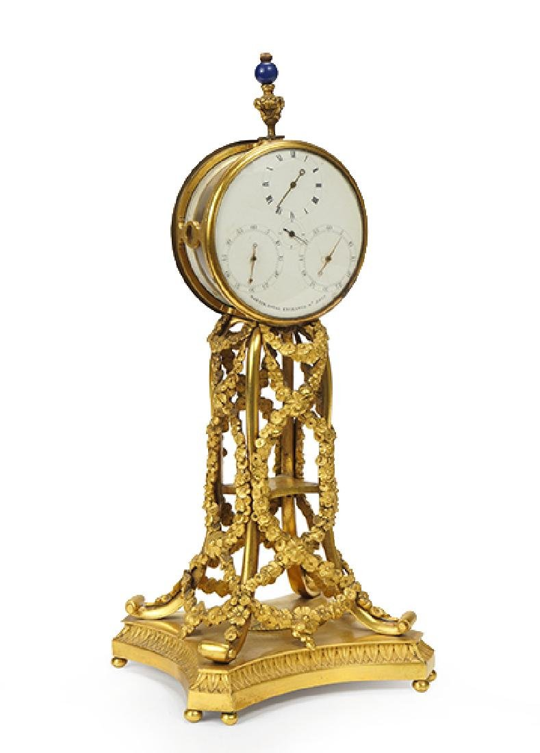 A George III Martin, Royal Exchange Mantle Clock.