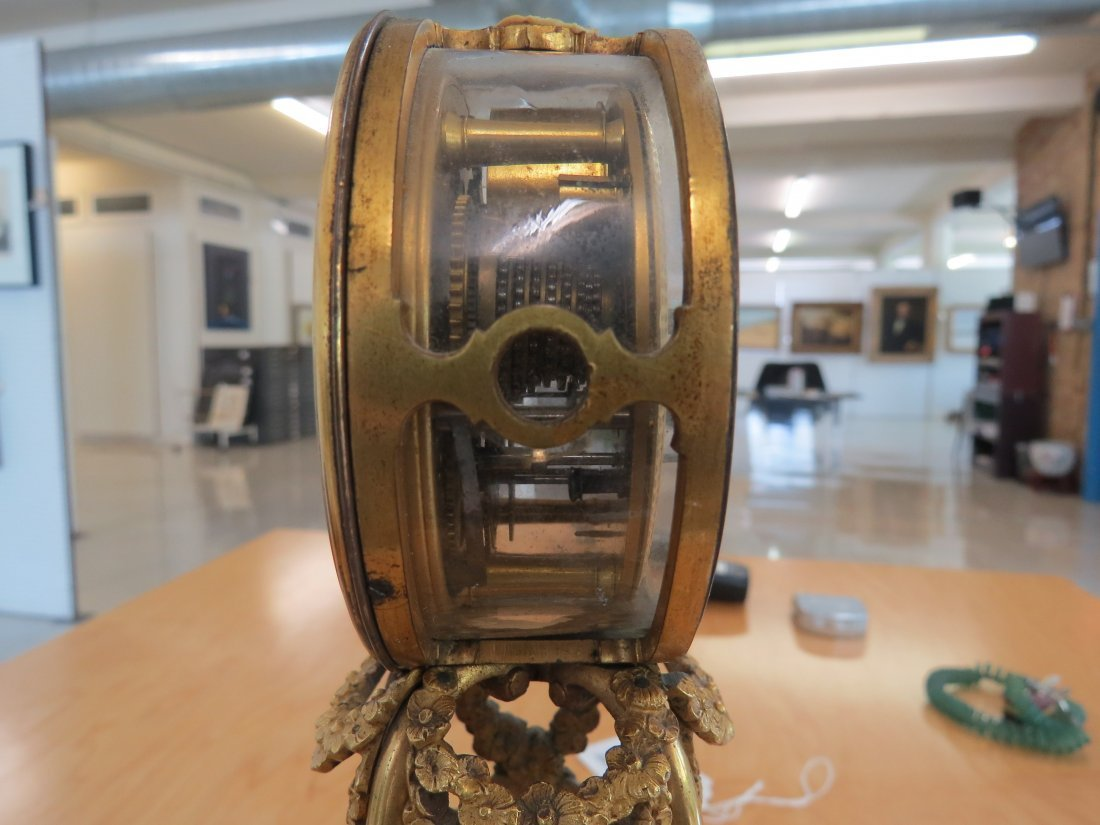 A George III Martin, Royal Exchange Mantle Clock. - 3