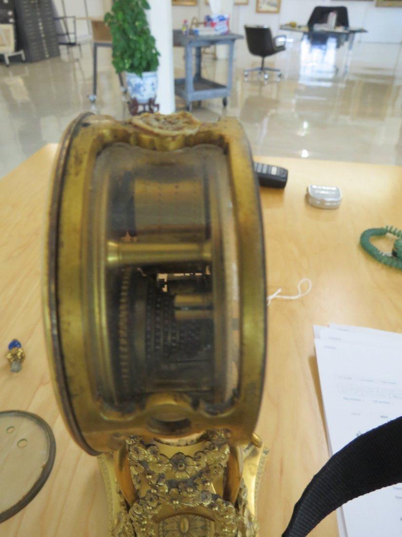A George III Martin, Royal Exchange Mantle Clock. - 4