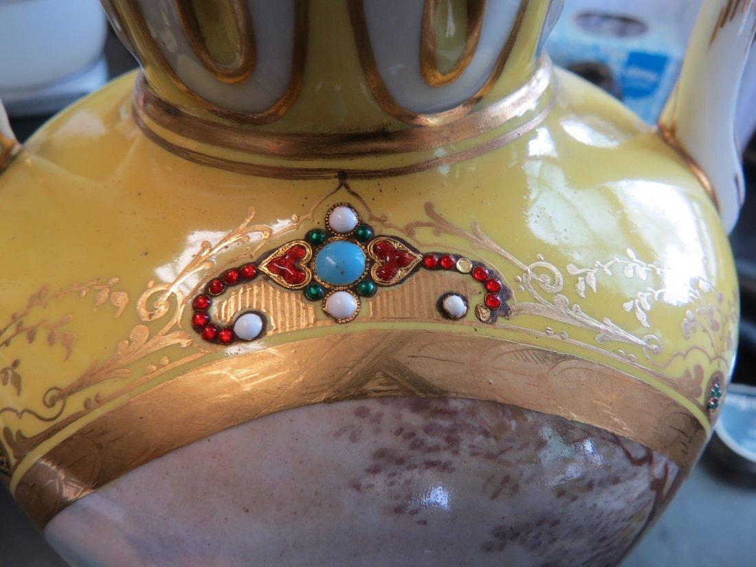 A Pair of Porcelain Urns. - 10