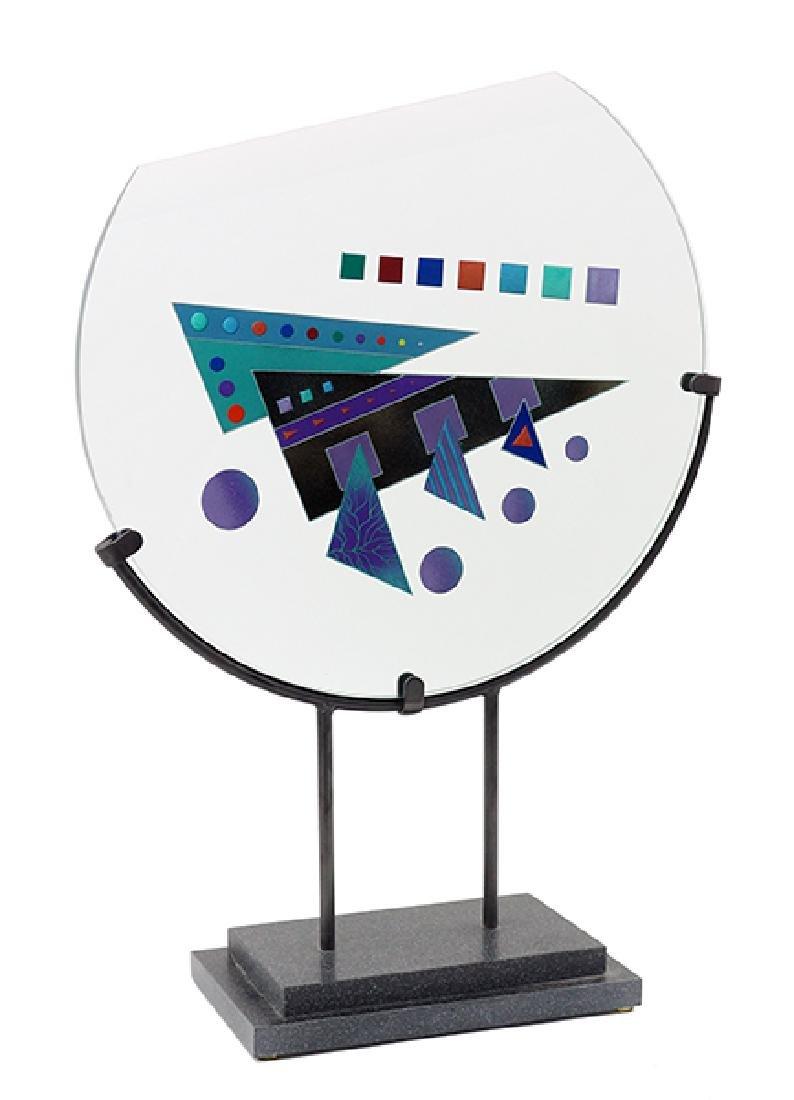 A Contemporary Glass Sculpture.