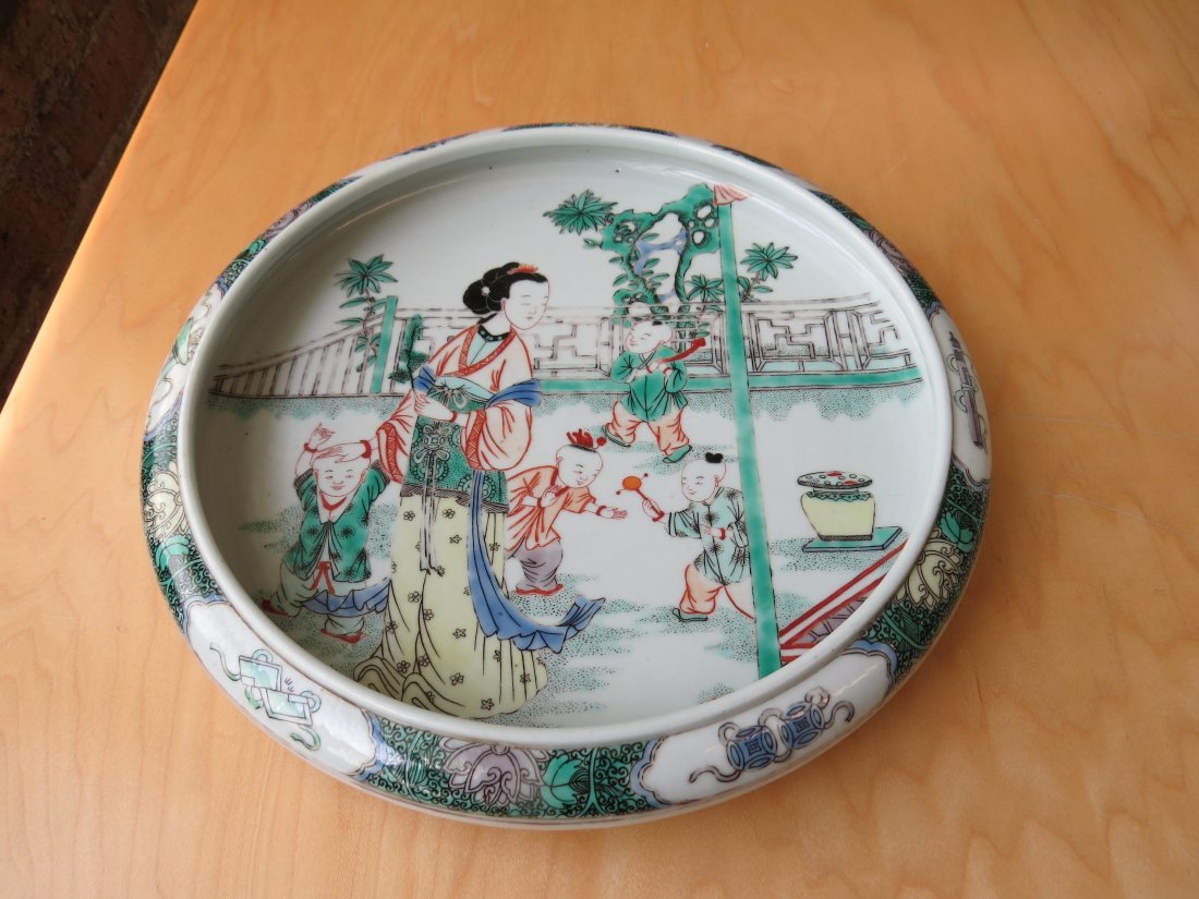 A Chinese Famille Verte Porcelain Low Bowl. - 2