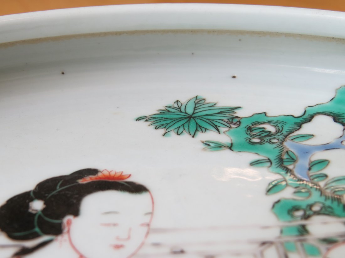 A Chinese Famille Verte Porcelain Low Bowl. - 4