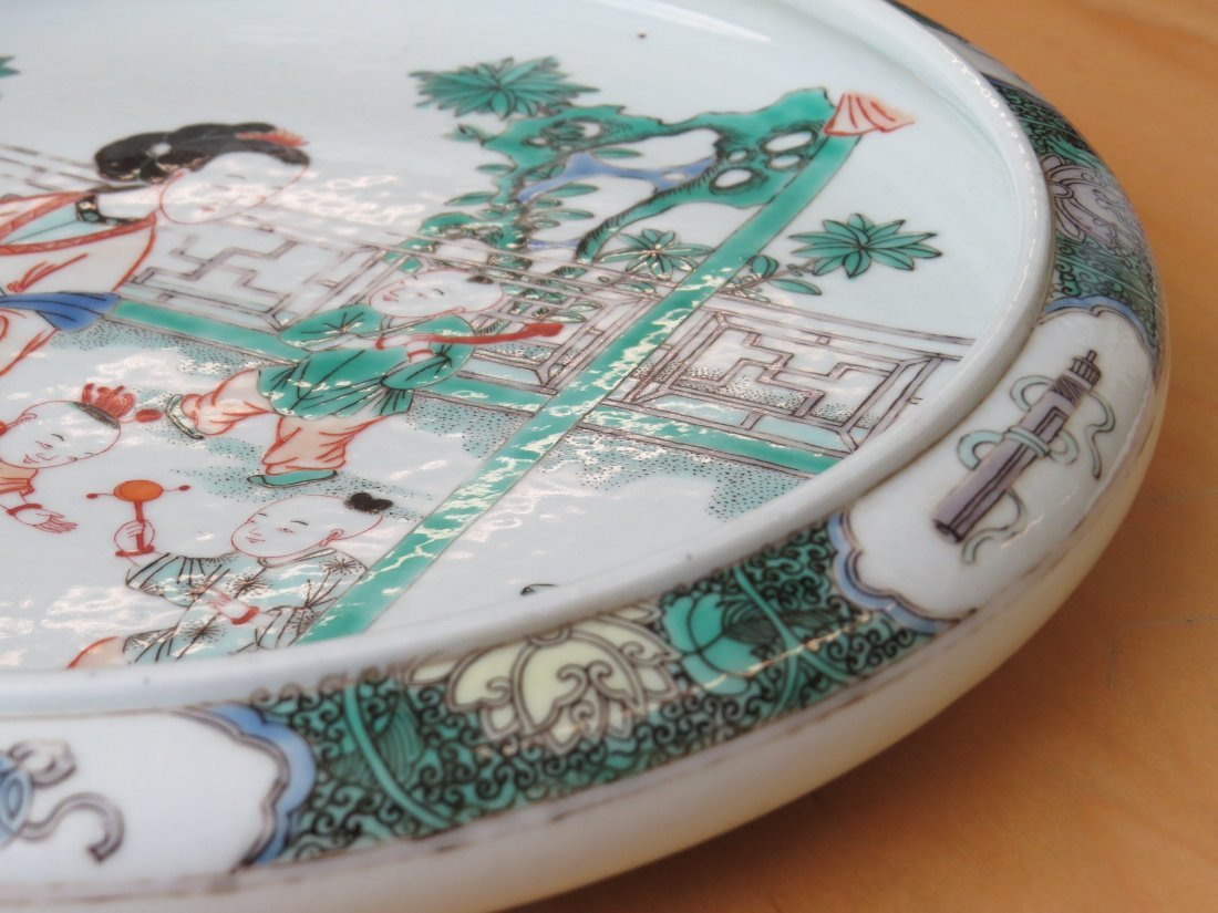 A Chinese Famille Verte Porcelain Low Bowl. - 6