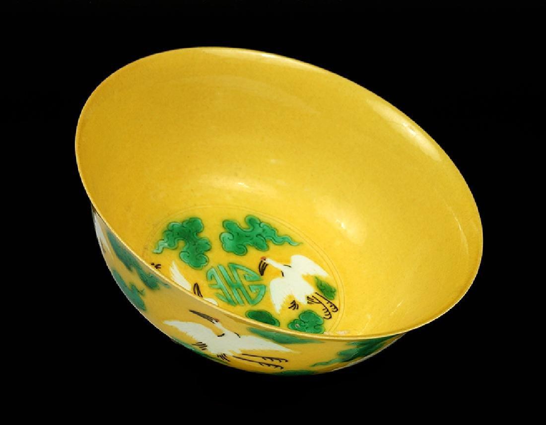 A Chinese Porcelain 'Crane' Bowl.