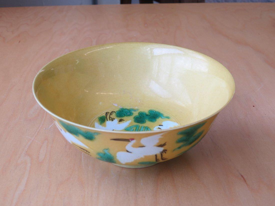 A Chinese Porcelain 'Crane' Bowl. - 2