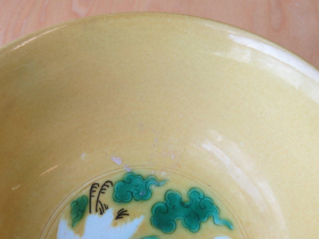 A Chinese Porcelain 'Crane' Bowl. - 3