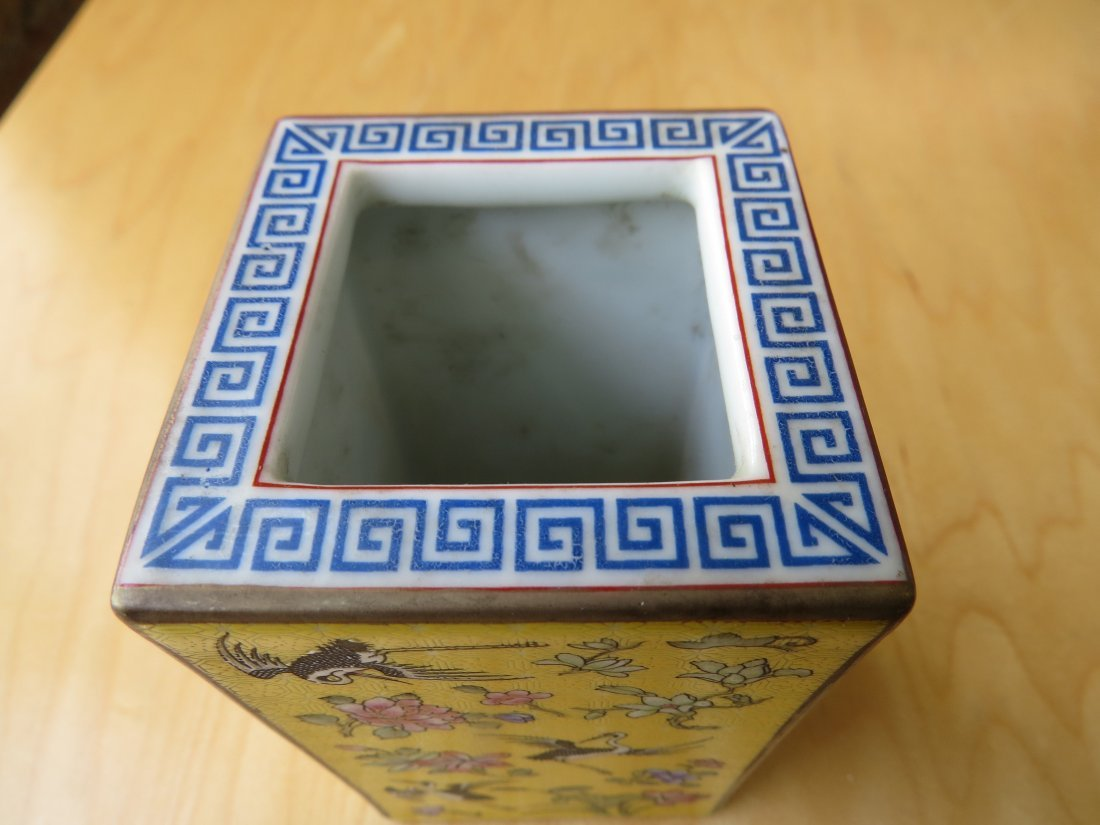 A Chinese Porcelain Brush Pot. - 4
