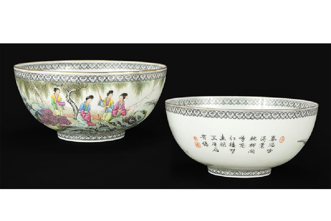 A Pair of Chinese Republic Porcelain Bowls.
