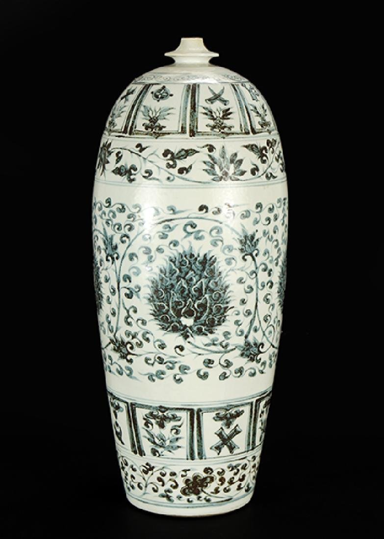 A Chinese Grisaille Decorated Porcelain Vessel.