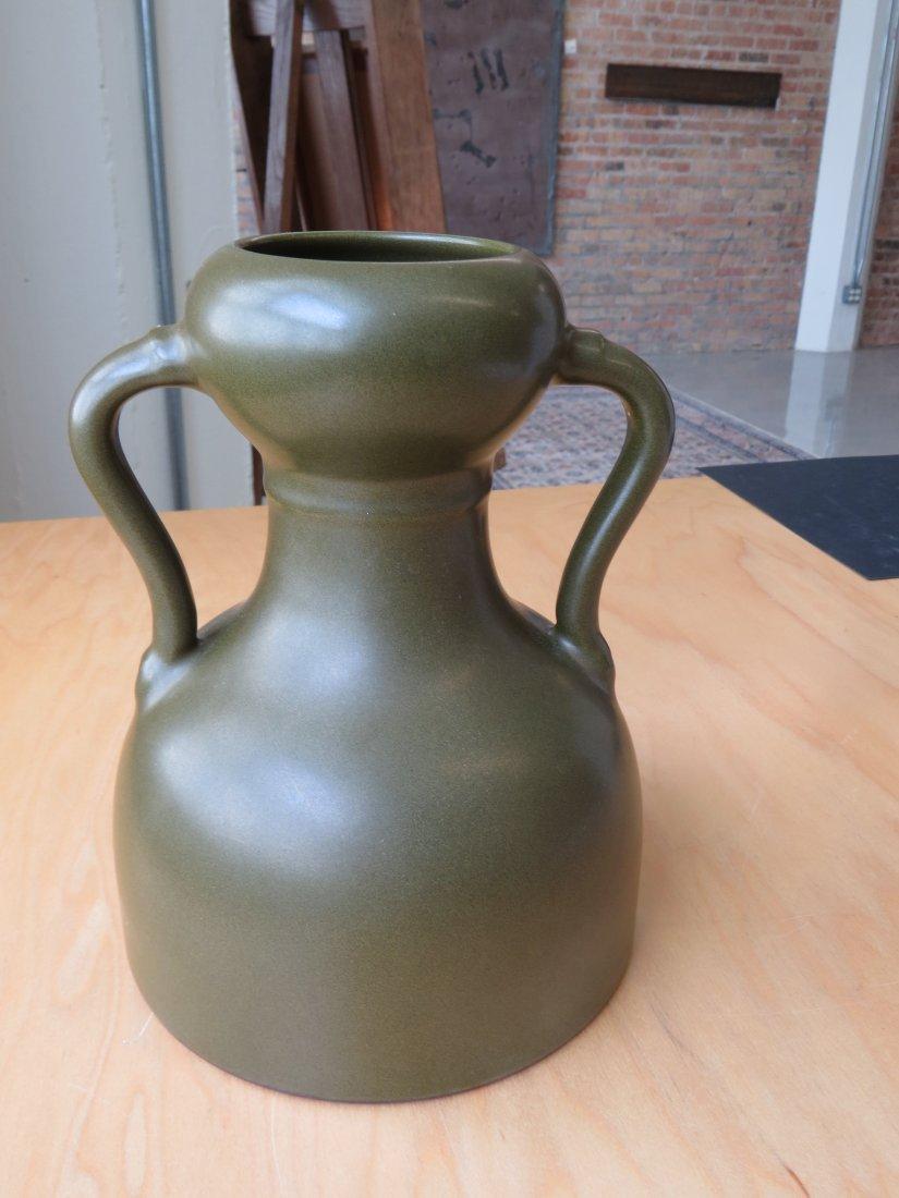 A Chinese Tea Dust Glazed Handled Vase. - 2