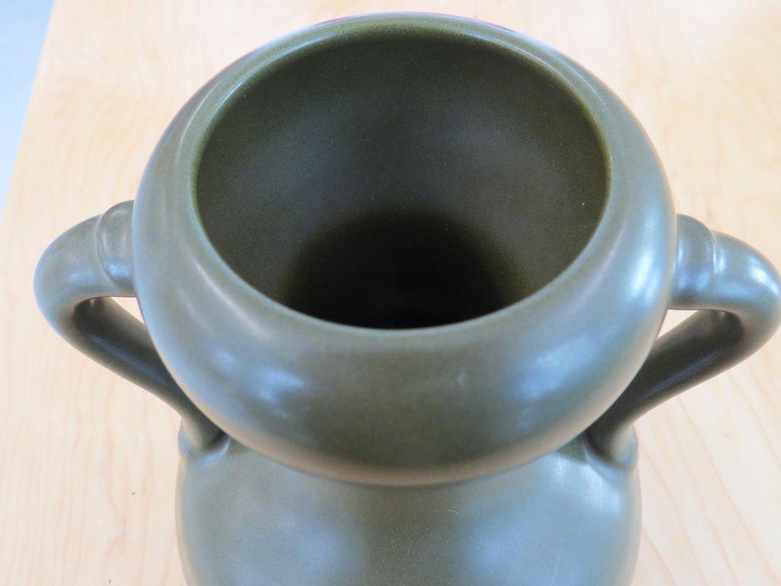 A Chinese Tea Dust Glazed Handled Vase. - 4