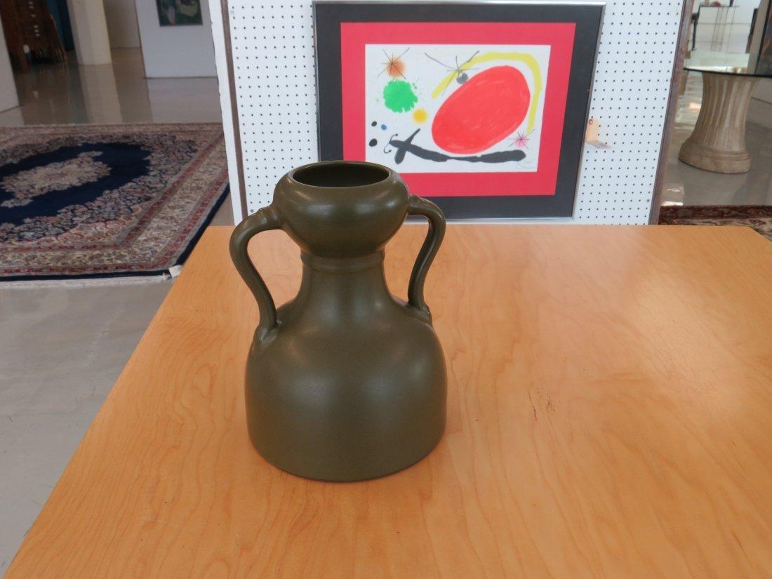 A Chinese Tea Dust Glazed Handled Vase. - 6
