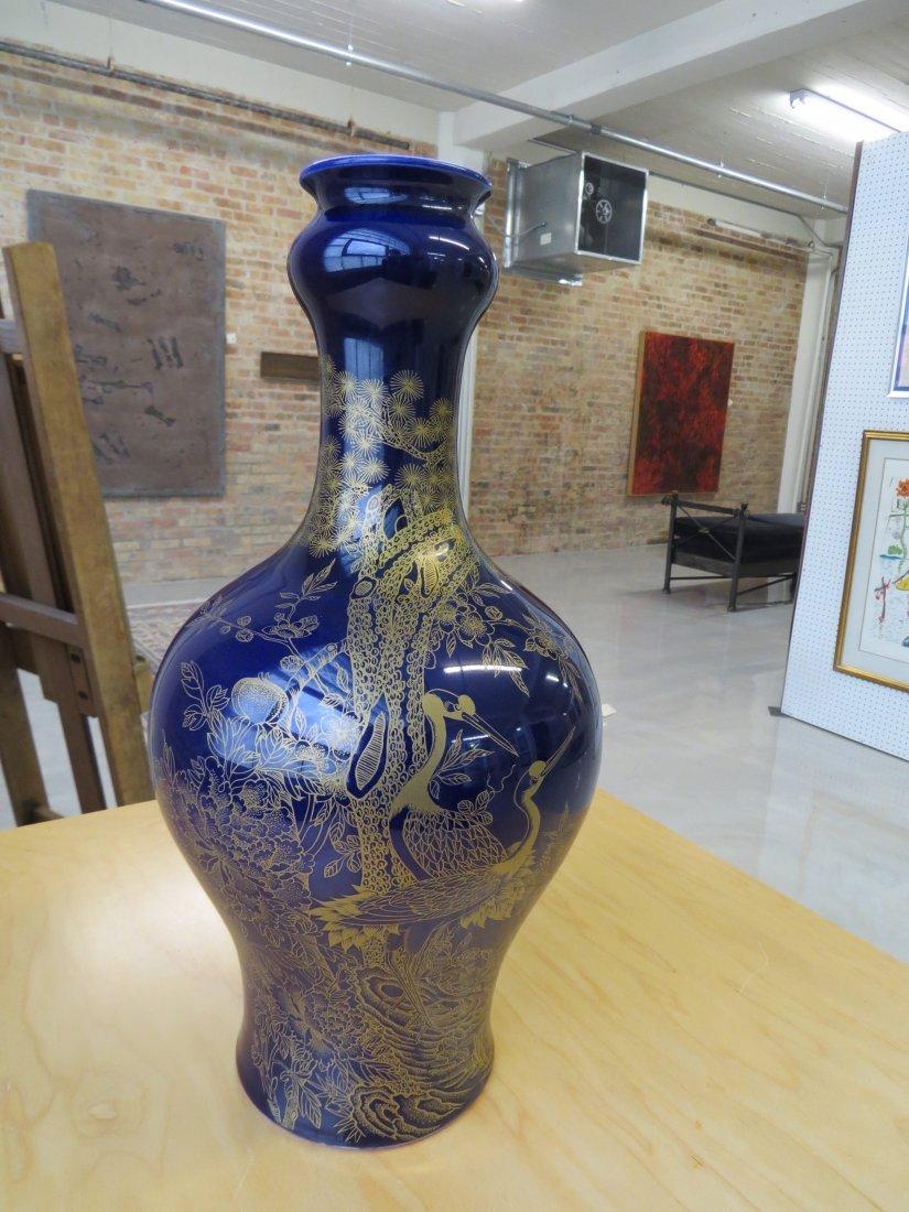 A Chinese Cobalt Glazed Vase. - 2