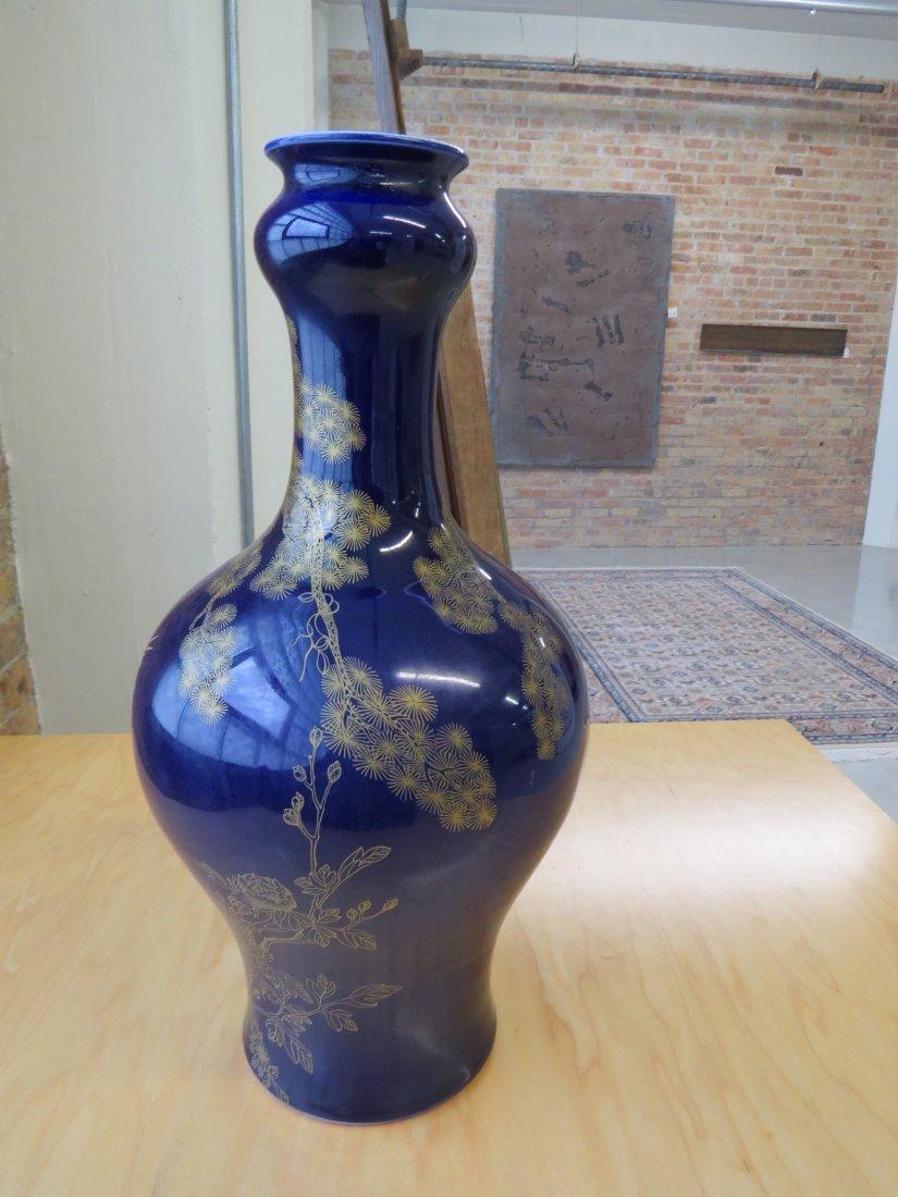 A Chinese Cobalt Glazed Vase. - 3